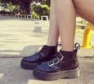 找到自己 MD歐美 時尚 潮 女 園頭 羅馬款 馬丁靴 真皮涼鞋 平底涼鞋 沙灘鞋