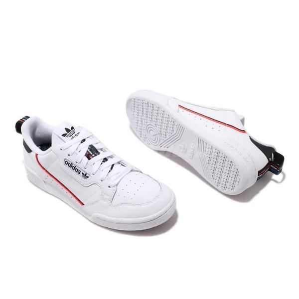 adidas 休閒鞋 Continental 80 白 黑 男鞋 皮革 串標設計 運動鞋【ACS】 FW5815