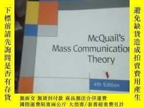 二手書博民逛書店McQuail′s罕見Mass Communication Th