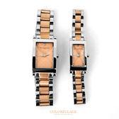 Valentino范倫鐵諾 切割美學經典格紋不鏽鋼玫瑰金交錯手錶腕錶對錶 柒彩年代【NE1293】單支價格