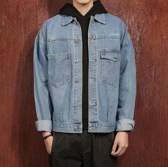 FINDSENSE Z1 日系 時尚 潮 男 大尺碼 秋冬 藍色 多口袋 刺繡蛇