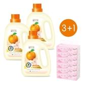 【橘子工坊】衣物清潔類嬰兒洗衣精900mlx3 加葇葇抽取衛生紙90抽x6包