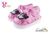 ArnoldPalmer雨傘牌 學步涼鞋 嗶嗶鞋 眨眼睛寶寶涼鞋H6015#桃紅◆OSOME奧森鞋業