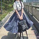 夏季復古吊帶連衣裙 復古百搭顯瘦襯衫單件套裝【少女顏究院】