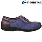 日本製造【MOONSTAR】女款 RAKURAKU樂活休閒鞋 - 紫(3E超寬楦)