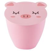 稻草屋桌面垃圾桶卡通可愛小豬時尚廚房桌上清潔桶客廳小號垃圾桶