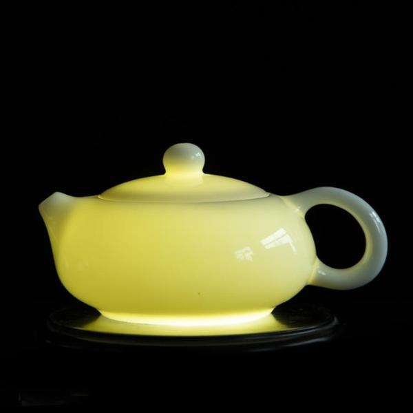 陶瓷茶壺 德化羊脂玉白瓷茶壺陶瓷家用泡茶壺帶過濾網大號單個功夫茶具單壺 維多原創