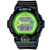 【CASIO】BABY-G 亮彩繽紛運動造型錶-黑X螢光綠(BG-6903-1B)