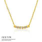 Justin金緻品 黃金項鍊 閃鑽時尚 金飾 9999純金套鍊 金項鍊 金鍊子 簡約款式