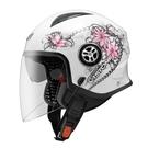 【東門城】ASTONE MJS AS7(白粉) 半罩式安全帽 雙鏡片
