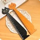 文具貓咪木尺 測量尺 木質尺(15cm)學生獎勵 禮品 贈品-艾發現