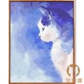 數字油畫涂色填色畫畫填充手工水彩畫減壓裝飾畫【宅貓醬】