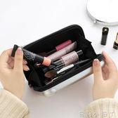 化妝盒化妝品包旅行防水迷你化妝箱盒韓國便攜可愛女士小號手拿包口紅包 蘿莉小腳丫