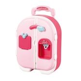 小伶會說話雙開門冰箱玩具公主拉桿箱女孩禮物兒童過家家廚房套裝
