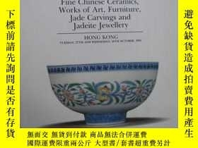 二手書博民逛書店FINE罕見CHINESE CERAMICS,WORKS OF ART,FURNITURE, JADE CARVI
