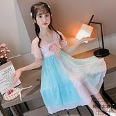 女童連身裙夏裝兒童漢服中國風洋氣雪紡裙子夏季女孩古裝【時尚大衣櫥】