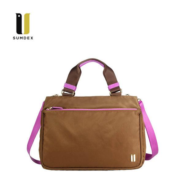 SUMDEX  平板中型手提包NOD-760TK柚木色
