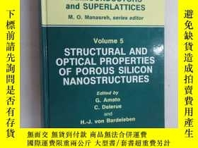 二手書博民逛書店英文書罕見Volume 5:STRUCTURAL AND OPTICAL PROPERTIES OF POROUS