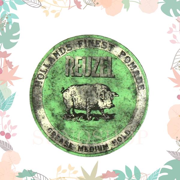 REUZEL Heavy Hold Pomade 綠豬油 水洗式油性髮油 4oz 。芸采小舖。