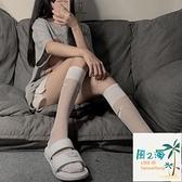 小腿襪女薄款夏冰絲透明中筒襪潮ins日系運動天鵝絨高筒顯瘦長襪 風之海