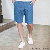 【GIORDANO】男裝丹寧抽繩腰修身直筒五分褲 ( 02 中藍色 )