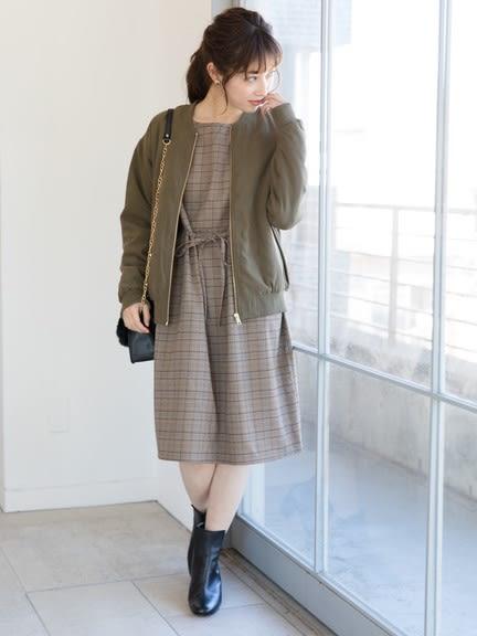 ❖ Winter ❖ 經典格紋氣質綁帶洋裝 - Green Parks