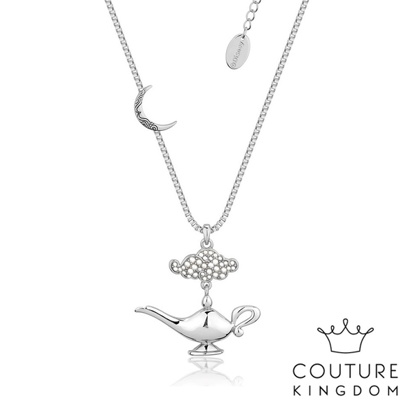 Couture Kingdom 迪士尼阿拉丁神燈鍍白金項鍊 Aladdin Genie Lamp