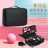 專業化妝包收納包大容量特大號多功能防水簡約便攜美甲紋繡工具箱 莫妮卡小屋