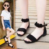 女童鞋涼鞋2018新款潮韓版夏季中大童女孩小高跟公主鞋兒童涼鞋女 至簡元素
