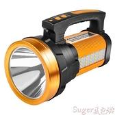 手電筒手電筒強光充電戶外超亮遠射led探照燈家用大功率超長續航手提燈 suger