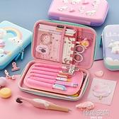 韓國文具盒鉛筆盒女小學生兒童女童多功能可愛筆袋男孩幼兒園獨角獸耐摔大容量