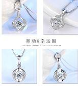 925純銀項鏈女鎖骨頸鏈簡約學生韓版森系吊墜飾品生日禮物送女友吾本良品