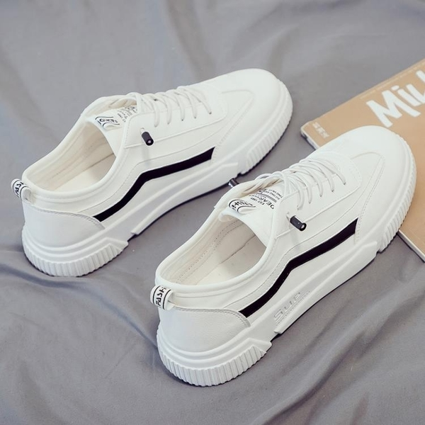 2020秋季新款帆布潮鞋韓版潮流男鞋百搭休閒小白板鞋白色布鞋白鞋 向日葵生活館