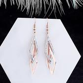 耳環2020新款潮個性網紅耳釘女純銀長款氣質簡約耳墜韓國耳飾品