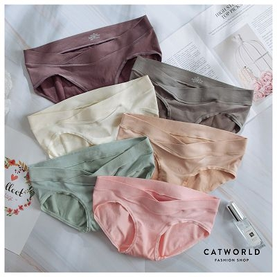 Catworld 舒適無縫交叉孕婦低腰內褲【18805248】‧S-XL
