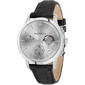 【Maserati 瑪莎拉蒂】/三眼皮帶錶(男錶 女錶)/R8871633001/台灣總代理原廠公司貨兩年保固