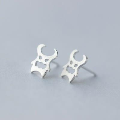 925純銀耳環(耳針式)-時尚個性惡魔生日情人節禮物女飾品73dr138【時尚巴黎】