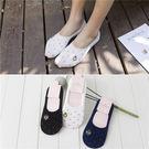 【BNY001】韓系刺繡船型襪-(3色)彩色波點純棉隱形襪☆貝兒