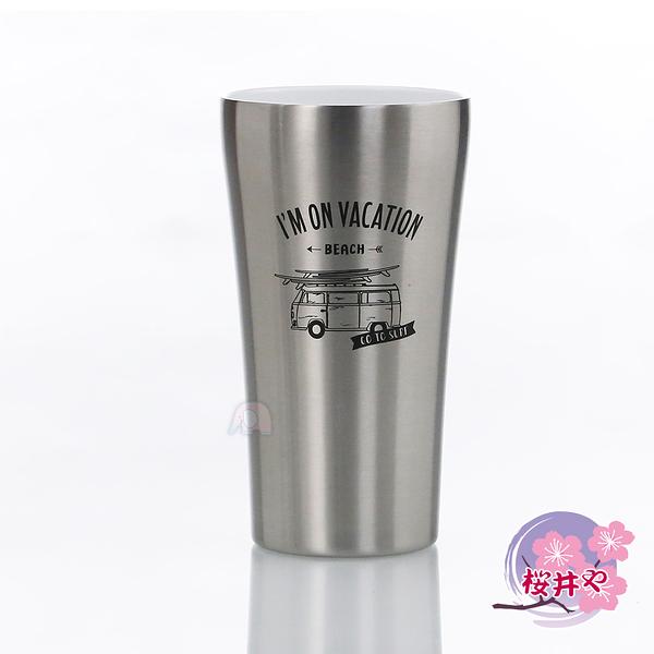 【櫻井屋】不鏽鋼陶瓷風保溫杯(420ML)