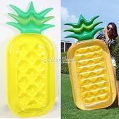 網紅原版菠蘿浮排西瓜菠蘿充氣浮排躺床成人游泳圈救生圈水上玩具 快速出貨