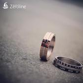 時間戒指男士羅馬數字日歷可轉動指環女潮鈦鋼時來運轉情侶一對戒