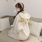 可愛動物睡衣女秋冬長袖加厚連身套頭家居服【左岸男裝】