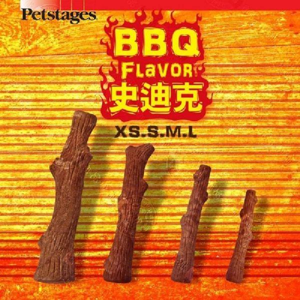 美國Petstages 30142 BBQ史迪克-XS (迷你型犬) 1入裝 寵物磨牙潔齒耐咬玩具