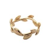 Tiffany & Co 蒂芬妮 18黃k金橄欖葉造型戒指 Olive Leaf Band Ring 9號【BRAND OFF】