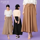 限量現貨◆PUFII-寬褲 腰抽繩雪紡長...