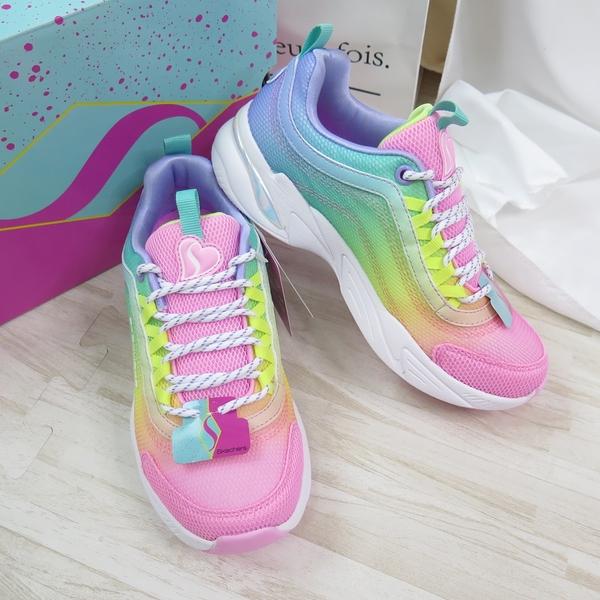 Skechers SOCIAL STATUS COLORTAS 中童鞋 302362LMLT 彩色【iSport愛運動】