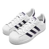 adidas 休閒鞋 Superstar W 白 紫 小白鞋 貝殼頭 女鞋 【PUMP306】 DB3346