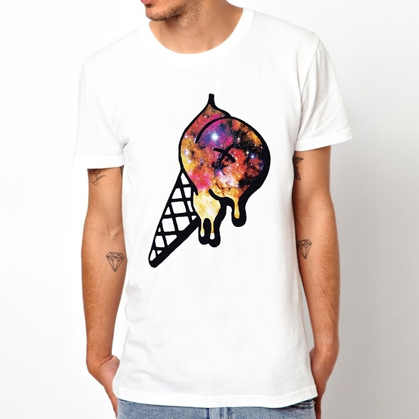 Ice Cream-Galaxy短袖T恤 白色 冰淇淋銀河dope obey huf風格街頭滑板t-shirt $390