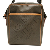 LOUIS VUITTON LV 路易威登 卡其綠帆布間背斜背包 Citadin M93224【BRAND OFF】