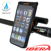 IBERA 自行車 智慧型 5吋 專用 防水 手機袋(黑)